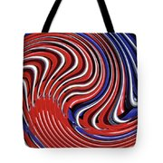 Red White And Blue Tote Bag by Sarah Loft