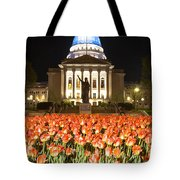Red White and Blue Tote Bag by Steven Ralser