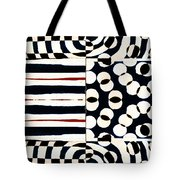 Red White Black Number 1 Tote Bag by Carol Leigh