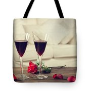 Red Wine Tote Bag by Amanda And Christopher Elwell