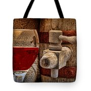 Red Wine With Tapped Keg Tote Bag by Tom Mc Nemar