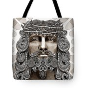 Redeemer - Modern Jesus Iconography - Copyrighted Tote Bag by Christopher Beikmann