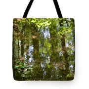 Reflection of woods Tote Bag by Sonali Gangane