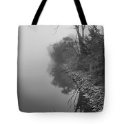 Reflections In Black And White Tote Bag by Dan Sproul