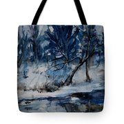 Reflections Of Winter Tote Bag by Xueling Zou