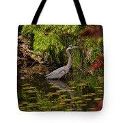 Reflective Great Blue Heron Tote Bag by Jordan Blackstone