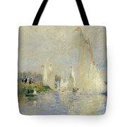 Regatta At Argenteuil Tote Bag by Pierre Auguste Renoir