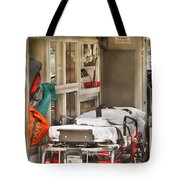 Rescue - Inside The Ambulance Tote Bag by Mike Savad