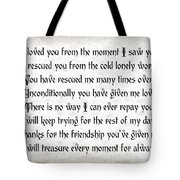 Rescue Love Tote Bag by Andee Design