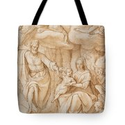Rest On The Flight Into Egypt Tote Bag by Federico Zuccaro