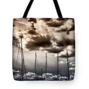 Resting Sailboats Tote Bag by Stelios Kleanthous