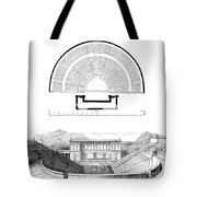Restoration Of The Greek Theater Tote Bag by Photo Researchers