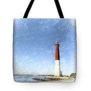 Retro Barnegat Lighthouse Barnegat Light New Jersey Tote Bag by Marianne Campolongo