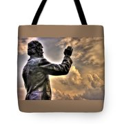 Rev. Father William E. Corby C S C - Blessing The Troops Of The 88th New York Infantry Irish Brigade Tote Bag by Michael Mazaika