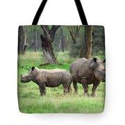 Rhino Family Tote Bag by Sebastian Musial