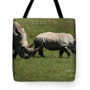 Rhinoceros Tote Bag by Aidan Moran