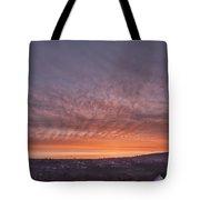 Rhymney Valley Sunrise Tote Bag by Steve Purnell