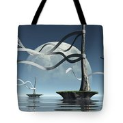 Ribbon Island Tote Bag by Cynthia Decker