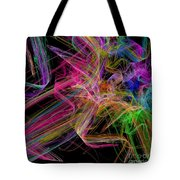 Ribbons And Curls Black - Abstract - Fractal Tote Bag by Andee Design