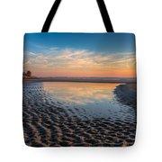 Ripples In The Sand Tote Bag by Debra and Dave Vanderlaan