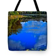 Ripples On Fly Pond - Old Forge New York Tote Bag by David Patterson