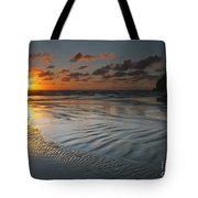 Ripples On The Beach Tote Bag by Mike  Dawson