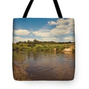 River Flows Tote Bag by Jenny Rainbow