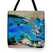 River Of Dreams Tote Bag by Indira Mukherji