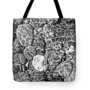 River Rocks In Stream Bed Monochrome Tote Bag by Jennie Marie Schell