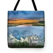 Road To Lieutenant Island Tote Bag by Bill Wakeley
