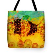 Robotic Fossil - Fish Tote Bag by Fran Riley