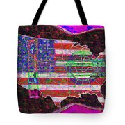 Rock and Roll America 20130123 Violet Tote Bag by Wingsdomain Art and Photography