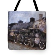 Rock Island Locomotive Engine Photo Art Tote Bag by Thomas Woolworth