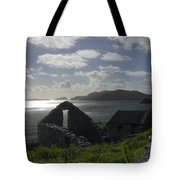 Rock Ruin by the Ocean - Ireland Tote Bag by Mike McGlothlen