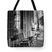 Rocker On The Veranda Tote Bag by Lynn Palmer