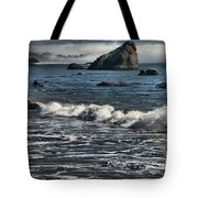 Rocks In The Surf Tote Bag by Adam Jewell