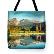 Rocky Mountain Morning Tote Bag by Gregory Ballos
