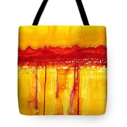 Rocky Mountains Original Painting Tote Bag by Sol Luckman