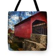 Roddy Road Covered Bridge Tote Bag by Joan Carroll