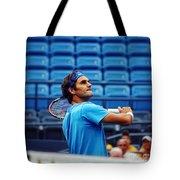 Roger Federer  Tote Bag by Nishanth Gopinathan