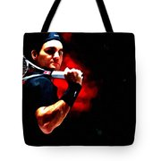 Roger Federer Tennis Tote Bag by Lanjee Chee