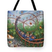 Roller Coaster Tote Bag by Linda Mears