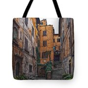 Roman Backyard Tote Bag by Hanny Heim