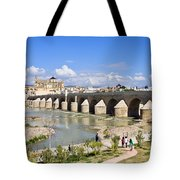 Roman Bridge In Cordoba Tote Bag by Artur Bogacki