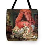 Romantic scene Tote Bag by Ignacio De Leon y Escosura