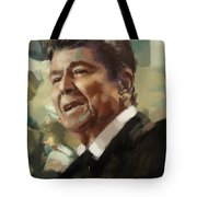 Ronald Reagan Portrait 5 Tote Bag by Corporate Art Task Force