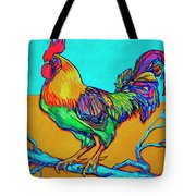 Rooster Perch Tote Bag by Derrick Higgins