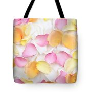 Rose petals background Tote Bag by Elena Elisseeva