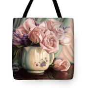 Rose Roses Tote Bag by Lucie Bilodeau