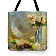 Roses With Figs Tote Bag by Diana Angstadt
